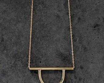Secant I Necklace Single Hoop