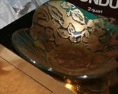 Embossed Gold Bowl