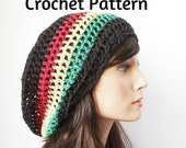 DIY Crochet 2in1 Pattern  for Mesh Tam, Dread Hat, Rastafarian tam, Drawstring hat Pattern