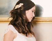 Gold leaf comb, feather comb, gold hair comb, bridal, bridesmaids - style 5013 - FREE SHIPPING*