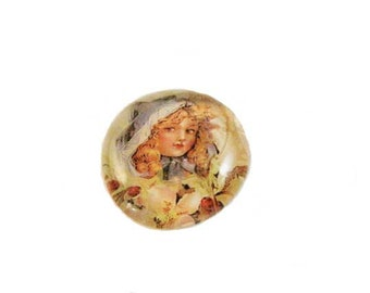 Glass Magnet Vintage Victorian Girl Christmas Picture Magnet Gifts Under 5.00 Refrigerator Magnet Handmade Art Home decoration #m9