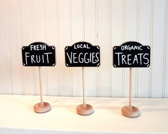 4 Chalkboard Table Stands-FARMERS MARKET Collection-Buffet Labels, Chalkboard Signs, Wedding Chalkboards, Chalkboard Label Stands