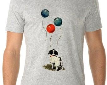 dog - dog shirt - dog tshirt - mens shirts - dog lover tshirt - dog lover gift - happy shirt - encouraging gift - ALWAYS LOOK UP - crew neck