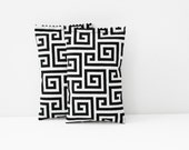 Lavender Bags for Drawers, Black and White Greek Key Geometric Bedroom Decor, Scented Sachets