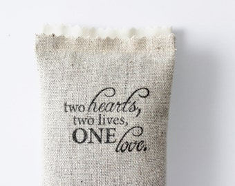 Engagement Party Favors, Two Hearts Two Lives One Love Lavender Sachet, Rustic Wedding Favor