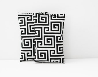 Modern Lavender Bags - Scented Drawer Drawers - Black and White Greek Key Geometric Bedroom Decor - Gifts for Women