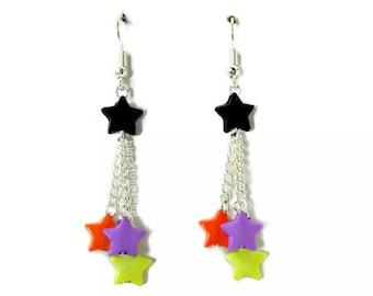 Halloween Earrings Halloween Jewelry Star Earrings Dangle Drop Earrings Kawaii Jewelry Halloween Costume Jewelry Witch Costume