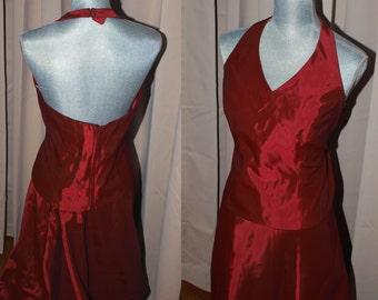 Red Taffeta Gown - Skirt & Bodice