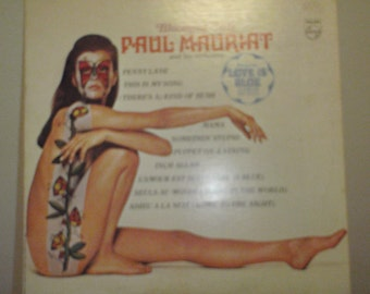 Vintage Album Butterfly Tattoo Face and Body Paul Mauriat and his Orchestra album