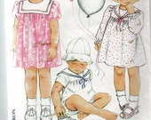 Baby Clothes Pattern: New Look 6338 used good condition multi-size 3mo - 24mo