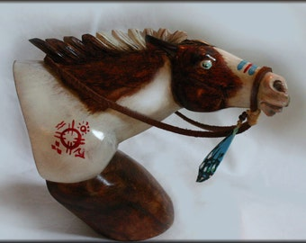 Bali carved- Scout Native American Horse