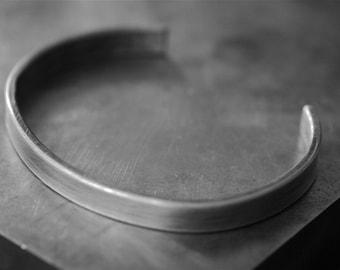 Sterling silver cuff bracelet - simple, modern and chic sterling silver cuff bracelet - unisex