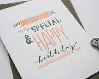 Birthday Letterpress Card - Special Birthday
