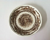 """J & G Meakin Americana Style House 6"""" Saucer Ironstone Everlasting Color"""