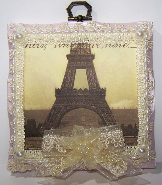 Vintage Artwork French Paris Cream Home Decor Picture