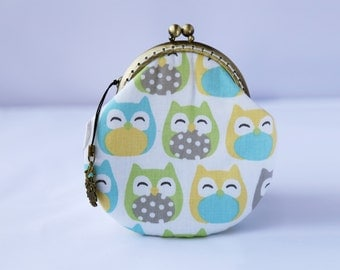 Pastel Owl Coin Purse