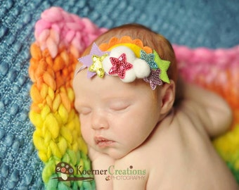 Mini Rainbow Blanket Photography Prop