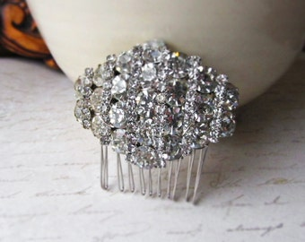 Vintage Rhinestone bridal hair comb, bridal hair comb, Wedding hair comb, Bridal hair accessories, Wedding hair accessories,