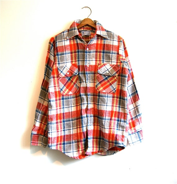 heavy flannel plaid shirt the alaskan vintage