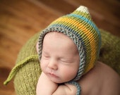 Baby Boy Striped Newborn Knit Bonnet