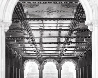 New York City Photography - Bethesda Terrace, Central Park, Urban Home Decor, Large Wall Art