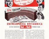1953 ad Encyclopaedia Britannica retro encyclopedia books family library reference new edition fun wall decor to frame - Free U.S. shipping