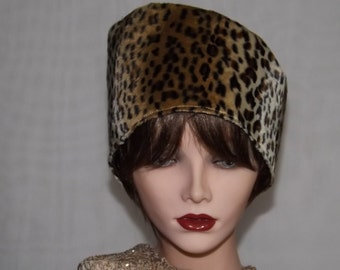 Animal Print Cossack Hat