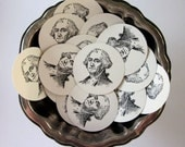President George Washington Tags Round Paper Gift Tags Set of 10