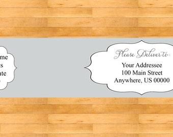 Grey Wrap Around Address Labels - Wedding address labels