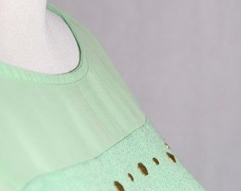Upcyled Mint Green Summer Shirt Top Size Small