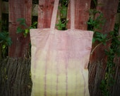 Summer Light Canvas Tote Shopper Bag - Naturally Dyed - Womens Organic Summer Accessory