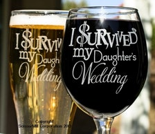 Wedding Gift For Daughter From Dad : Gift, Parents Gift, Just Married Gift, I Survived My Daughters Wedding ...