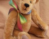 Chester, gpld mohair artist bear,OOAK, by Bedlam bears