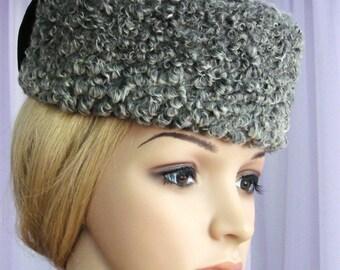 Ladies Karakul Hat. REAL fur. Vintage Inspired Style.