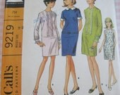 Vintage McCall's Sewing Pattern 9219 Misses' Dress in Four Versions..size 18..bust 40