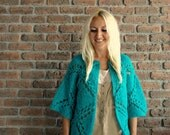 Womens Cardigan- Crochet Cardigan