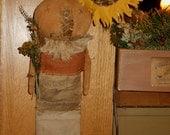 Primitive Pumpkin man in Stocking FAAP etsy team