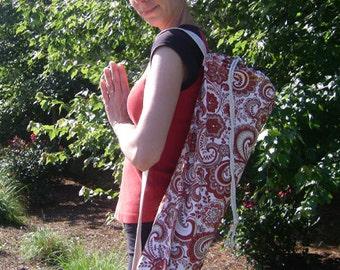 Paisley Yoga Mat Bag