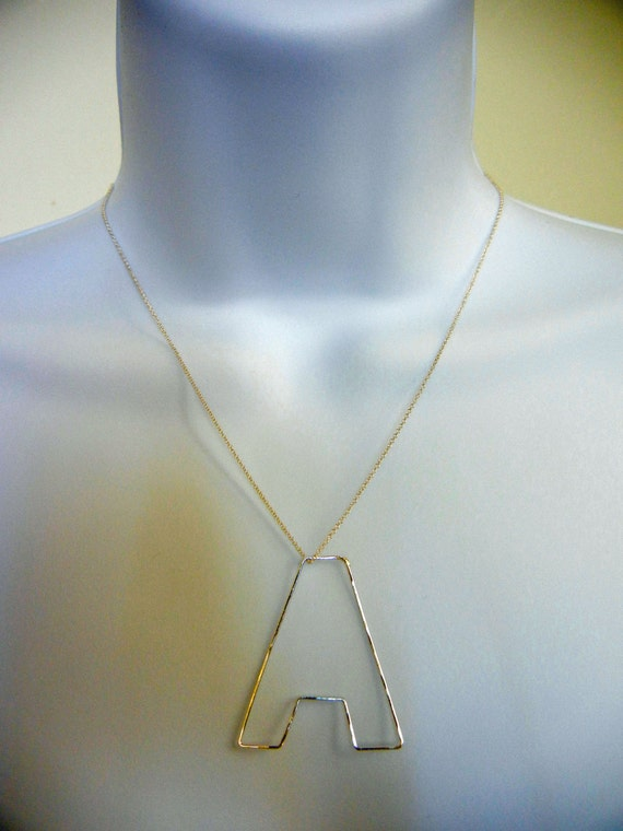 Initial Necklace-Personalization Jewelry-14k Gold filled wire-Monogram Pendant as seen on Heather Dubrow