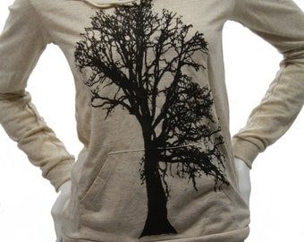 Oak Tree| Soft Lightweight pullover hoodie| organic cotton blend| Art by MATLEY|  Gift for her| jumper.