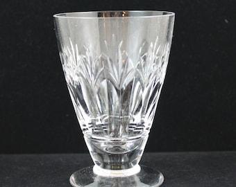 Vintage Stuart English Crystal Juice Glasses in the Cardinal Pattern