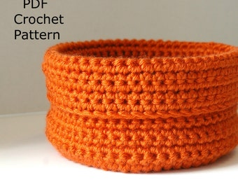 Crochet Pattern Crochet Bowl, Small Crochet Basket Digital Download PDF