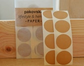 50 kraft brown paper circle stickers round shaped label 25mm geometric gift decoration birthday supplies seals, black friday, cyber monday