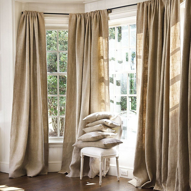 Curtains Ideas 60 wide curtains : Spring sale 20% off Burlap Sale-Burlap Curtains All Natural