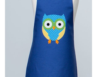 Kid Reversible Appliqué Apron with Owl