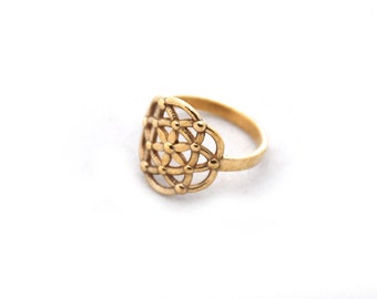 Seed of Life Ring, Flower of life, Sacred Geometry, 3D