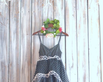 High low dress, Bohemian lace sundress, Boho chic dresses for summer, Mori girl, POLK-A-DOT, Romantic french lace, True rebel clothing