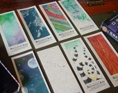 Set of 8 Bookmarks - reprinting 8 pieces of original art by Amy Crook