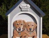 2 Dog House Card Box for Medium Weddings or Other Events