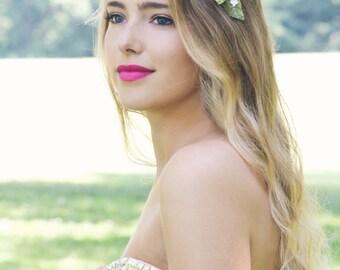 velvet flower headpiece, wedding white flower, flower hair wedding